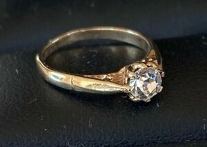 """TINY SIZE CHILDS Vintage 9ct Gold Ring  Size """"A"""""""
