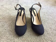 Navy Blue Dorothy Perkins High Wedge Shoes Size 6 Brand new