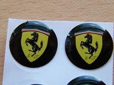 2 High Quality Glossy Ferrari Crystal Gell Badge Emblem Sticker Remote 14mm Dia