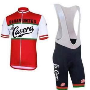 Retro La Casera Pena Bahamontes Cycling Jersey Bib shorts