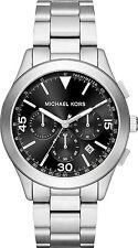 Michael Kors MK Gareth Black Dial Chronograph Chrono Mens Quartz Watch MK8469