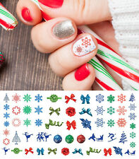 Holiday Christmas Nail Art Waterslide Decals #5 - Salon Quality!