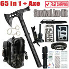 Survival Outdoor Gear Kit EDC Tool Tactical Tomahawk Axe Hatchet Camping Hunting