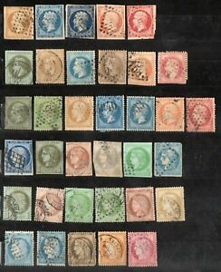 France, Collection of Early Ceres & Napoleon 1800's (35 stamps), High CV. L1200