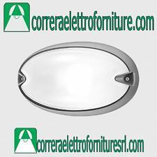 Plafoniera vetro esterno soffitto parete PRISMA CHIP OVALE 25 grigio E27 005704