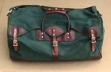 """ORVIS  BATTENKILL DUFFLE BAG Canvas Back Leather 25""""  Green"""