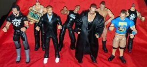 Eight (8) taker, Bryan, Cena, rollins wwe WWF jakks pacific figures