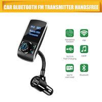 Transmisor FM bluetooth para Coche Manos Libres Cargador USB MP3 Radio Plata