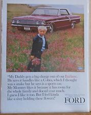 1963 magazine ad for Ford - Fairlane 500 Sport Coupe, handles like a Cobra