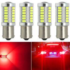 4X Strobe 1156 BA15S Red 5630 Brake Stop Parking Light Turn Signal Bulb Fog Lamp