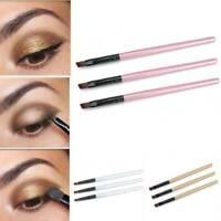 3pcs Fashion Cosmetic Brushes Set Oblique Angled Eyebrow Brush Brow Make Beauty
