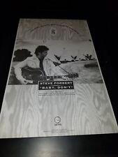 Steve Forbert Baby, Don't Rare Original Radio Promo Poster Ad Framed!
