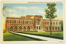 Rockne Memorial University of Notre Dame Indiana Postcard