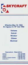 Skycraft (Canada) Timetable  May 15, 1992 =