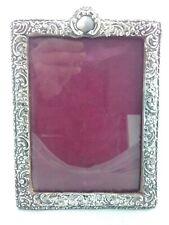 Superb Medium Rococo Style Solid Silver Photo Picture Frame - Birmingham 1898