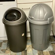 Bullet Bin-2x-54lt +50lt-Silver-Gray-Feed-Recycle-Waste-Collection Basildon SS15