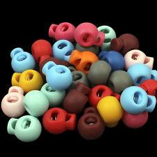 30 KORDELSTOPPER 5mm Kunststoff Farbe MIX 18x22x13mm Einloch - p00nh0050