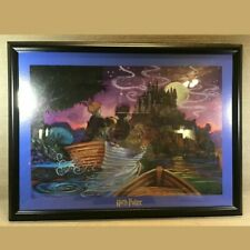 Harry Potter Journey To Hogwarts Lithograph Print Large 27x20 Collectible.