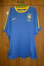 Brazil Nike Brasil Football Shirt Away 2010/2011 Soccer Jersey Men Size 2XL XXL