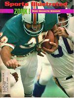 1974 1/21 Sports Illustrated football magazine Larry Csonka Miami Dolphins GOOD