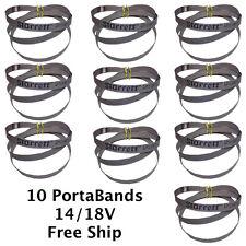 10 Cobalt Portable Bandsaw Blades 14/18 TPI Portaband 44-7/8 long Starrett Brand
