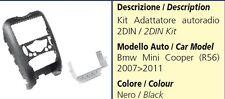 MASCHERINA AUTORADIO 2DIN PER BMW MINI COOPER R56 2007 - 2011