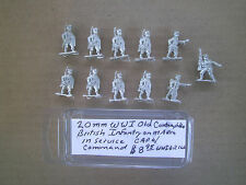 20mm  ( 1/76 ) scale Tumbling Dice WWI British Infantry on march in service cap