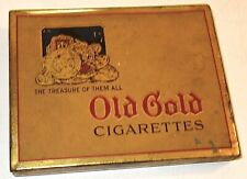 EARLY Vintage OLD GOLD Cigarettes FLAT TIN~LOT #2! NR!