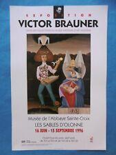 BRAUNER Victor Affiche 96 Art brut Sables d'Olonne Roumanie Amoureux Man Ray