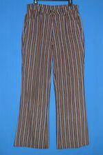 vintage 70s LEVIS STRIPED BIG E WIDE LEG WOMEN'S JEANS PANTS 10/12 32 X 31.5
