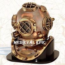 Vintage Solid Brass Deep Sea Diving Helmet Scuba Divers Helmet Commercial