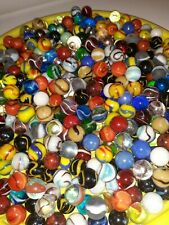 Mixed 50 Lot Assorted Old Vintage New Modern Colorful Glass Marbles GREAT MIX