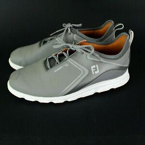 FootJoy Superlites XP Grey/White Mens golf shoe Size 10.5 Gray