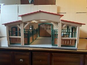 Schleich Horse Stable, 4 Horses, Andalusian, Hanoverian, Tennessee Walker & Foal