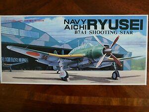 NEW IN BOX MODEL F7A KIT SEALED 1/72 FUJIMI B7A1 NAVY AICHI RYUSEI SHOOTING STAR