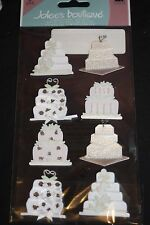 8pc Jolees Boutique Wedding Cake Scrapbooking Stickers 939