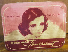 Dominion Transparent Three for One Dollar Condoms Beautiful Lady Ad Counter Sign
