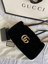Gucci Marmont Samt Tasche Medium Schwarz Velvet Bag Black SOLD OUT / WIE NEU