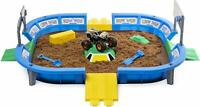Monster Jam Arena Playset 24in Wide 2lbs Dirt Ramp Mold Max D Truck Scoreboard