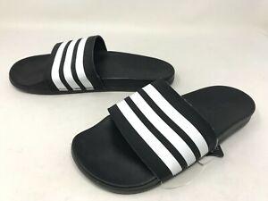 Womens Adidas (AP9966) ADILETTE COMFORT Black/White Slides (456L)