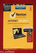Norton Internet Security with Utilities 3 PC, 1 Year  CD/DVD (NEW, Sealed Box)