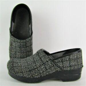 Dankso Tweed Professional Comfort Clog Slip On Shoe Women Size 41 US 10.5 - 11