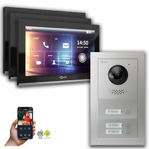 10 Zoll IP Türsprechanlage Goliath 3-Familielienhaus Handy App