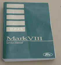 1993 Lincoln Mark VIII Original Repair Shop Manual 93 OEM Mk 8 Service Book