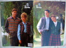 Panda Knitting Pattern Pamphlet - HIS/HER VESTS  - Sizes 10 to 20 in 5 & 8 Ply