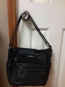 Multi-sac Handbag Shoulder Black Multi Pocket Organizational