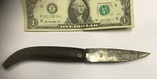 Circa 1750-1850 Us Colonial Etched Blade / Carved bon Pocket Knife Works Great