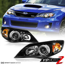 Fit 2008-2011 Subaru Impreza WRX STI 2.5 Outback BLACK Front Headlights Assembly