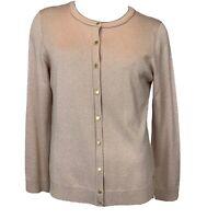 Calvin Klein Rose gold sparkle cardigan sweater Size medium  snap Rayon