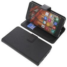 Tasche für Elephone P9000 Lite Smartphone BookStyle Handy Schutzhülle Schwarz